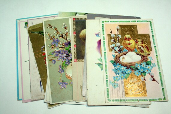 15 Early 1900s Easter Postcards - Chicks