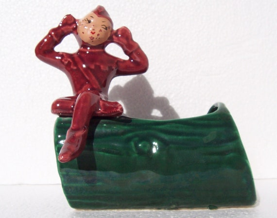 Vintage Christmas Pixie Planter