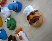 Custom 3D fondant  Muppets Inspired cupcake toppers