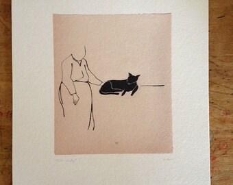 Cat Lady - Art Print