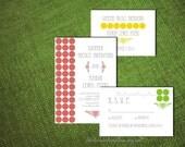 Diy PRINTABLE Invitation Suite Design Pdf Custom Colors MODERN DOTS  Wedding Engagement Anniversary Shower Template Digital Country Mod Chic