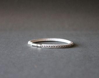 Mini Stud Leather Bracelet(White)