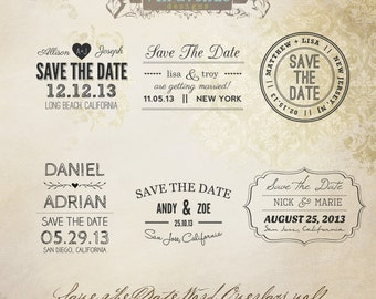 INSTANT DOWNLOAD - Save The Date Words Overlays vol.1