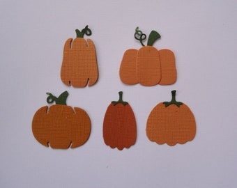 5 Pumpkin Die Cuts for Cards Scrapbooking and Paper Crafts Fully Assembled