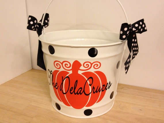 Halloween Bucket Personalized Halloween Trick Or Treat 10
