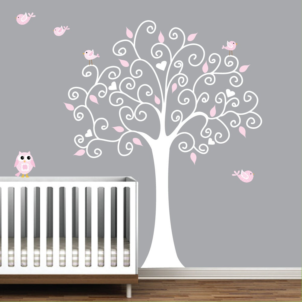 wall decal tree with owl nursery wall art sticker e29