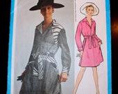 "Vogue Americana Designer James Galanos 1968 Vintage Sewing Pattern Size 12 34"" bust - 1960s  Day Dress"