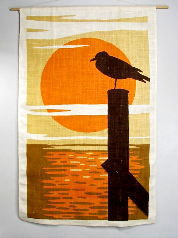 1970s California Sunset Wall Hanging