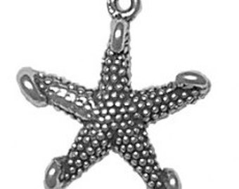 SALE Sterling Silver Starfish Charm Pendant Marked 30% off Regular Price