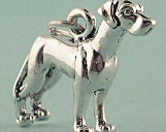 Great Dane Dog Charm Pendant Sterling Silver