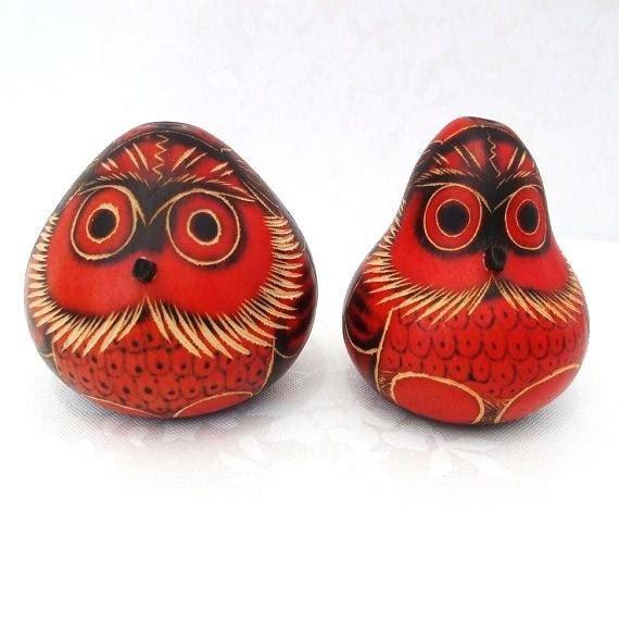 Owls, Carved Gourds, Painted Gourds, Vintage Art, Vintage Folk Art