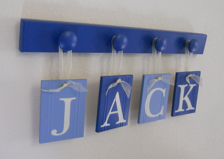 Baby Boy Nursery Decor Hanging Nursery Wall Letters