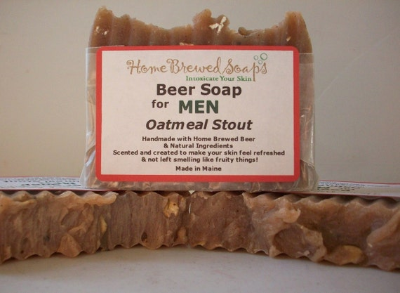 Oatmeal Stout Beer Soap-Gifts for Men-Natural Soap-unique gifts for men