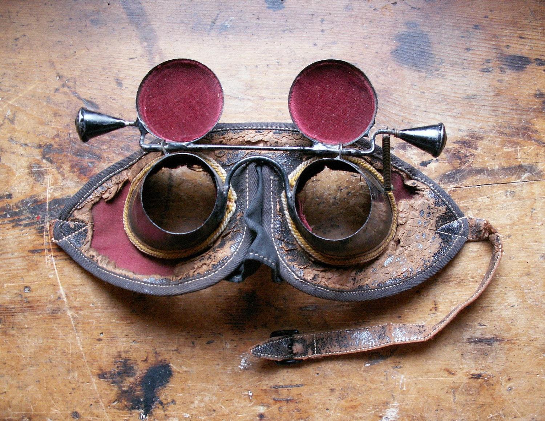 vintage masonic initiation goggles mask hoodwink