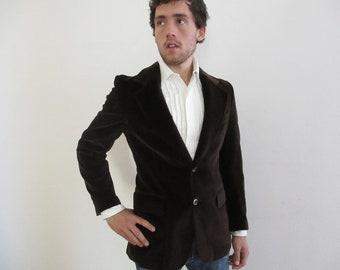 Vintage Men's Sexy Velvet Blazer Jacket  46