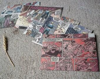Comic Book Invitations / Recycled Superhero Envelopes / Wedding Birthday Invitations - Set of 20