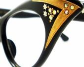 Vintage  Cat Eye Glasses Eyeglasses Sunglasses Glasses New 50s Frame Rhinestones 5