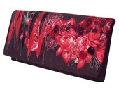 Handmade clutch bag purse large - Lady in Red