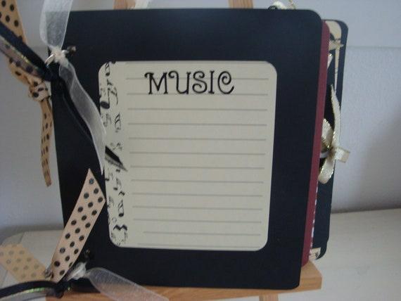 SALE Music Scrapbook. Music Mini Album. Music Photo Album. Gift Ideas for Music Teacher. Piano Teacher Appreciation Day.  Music Journal.