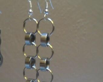 Triple Bike Chain Roller Earrings - EAROLL01