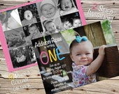 RESERVED TWO Sided Invitation with 12 Photo Collage