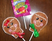 In The Hoop Gingerbread Lollipop Cover Embroidery Machine Design Set