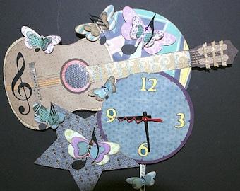 Guitar Pendulum Wall Clock