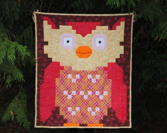 Owl Quilt Pattern (3 sizes in 1) - PDF