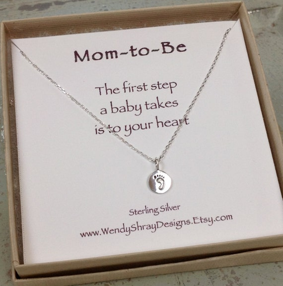Baby Gift Jewelry For Mom : New mom jewelry necklace tiny by wendyshraydesigns