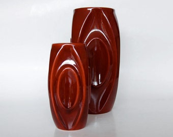 Set of Two Bullet Vases -  Rudolf Schrotter 60s