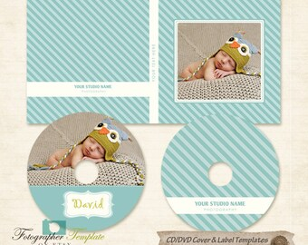 DVD Label and Cover Templates photoshop template for photographers - BCD02