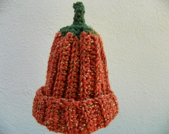 Pumpkin Hat Sizes Baby-Adult Hand Crochet