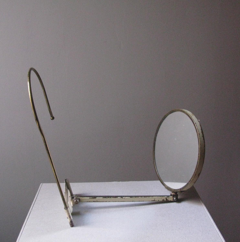 Vintage Hands Free Metal Neck Mirror Vanity Mirror
