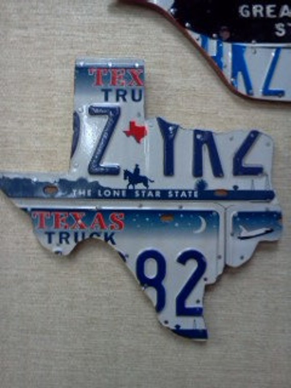 License Plate Shape Of TEXAS