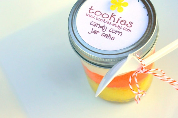 EEEK Candy Corn Limited Edition Jar Cakes - 4 pack- HALLOWEEN Shipper