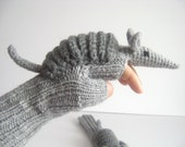 CAMPAİGN // Original Design Cute Armadillos  gloves ,Valentine day,   Gift Ideas-For Her- Winter Accessories