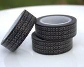 Black Telephone Wire Squiggle Washi Tape