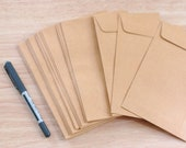 Brown Envelopes - Set of 20 - Made from recycled paper