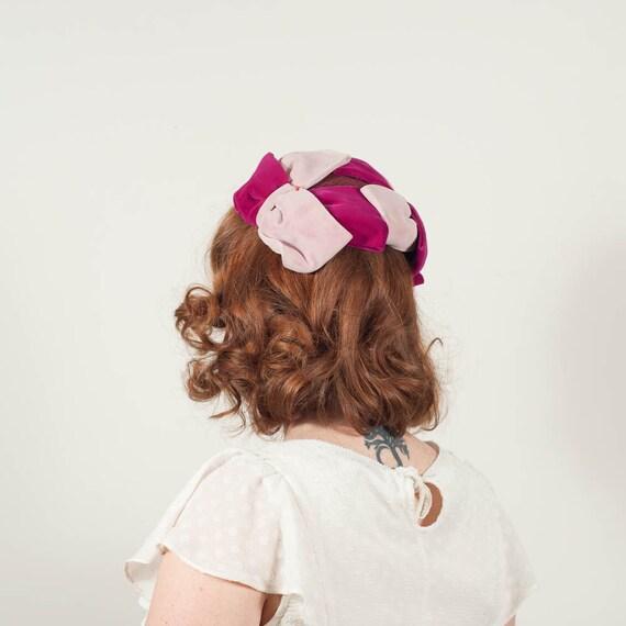 vintage 1950s hat / half hat / Chrysanthemum