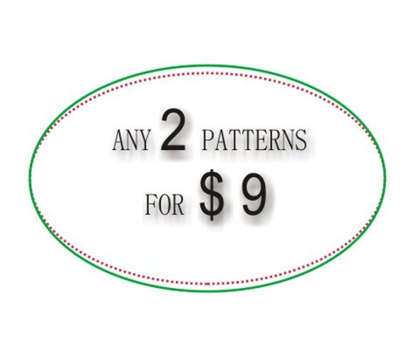Any 2 patterns for 9 USD , PDF DIY crochet photo tutorial of your choice, Pattern pack