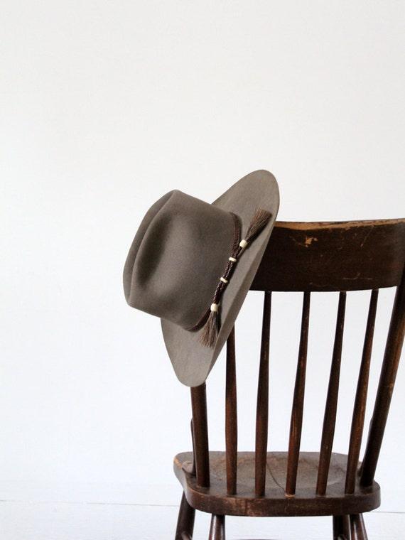 1960s cowboy hat, vintage western beaver hat