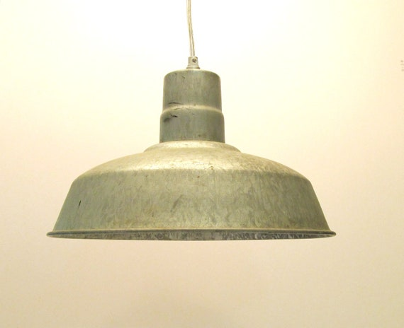 Industrial Vintage Galvanized Hanging Lamp