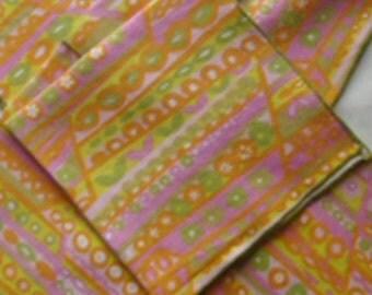 Vintage Colorful Linen Napkins / Set of Five