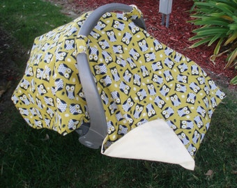 Owl Carseat Cover  -   Gender Neutral