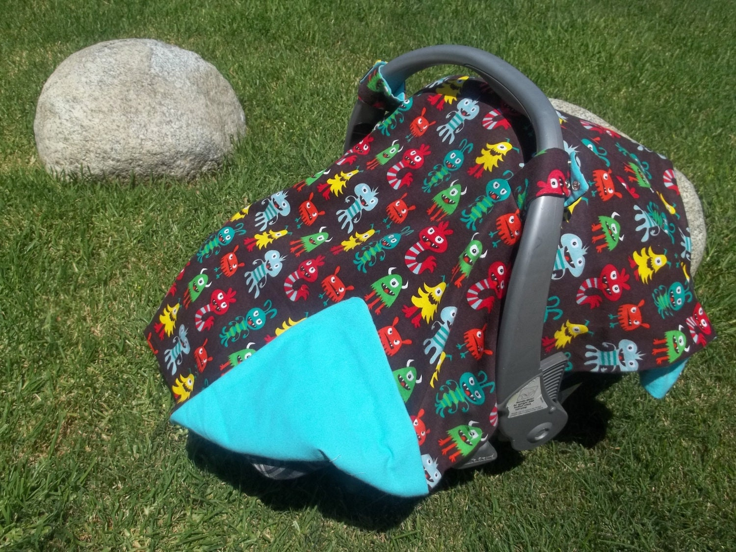 Baby Car Seat Canopy For Baby Boy LIttle Monsters
