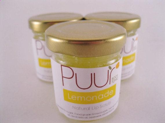 Lemonade Lip Scrub - All Natural Essential Oils - Sugar and Hemp Butter Scrub 1 oz jar