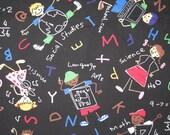 "Michael Miller Chalk Art Back to School  fabric 1 yard 25"""