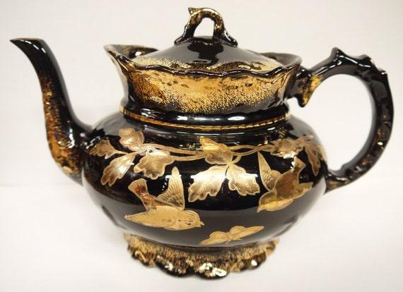 RESERVED FOR EMMIE - Antique Victorian Teapot c.1890s R. Sudlow & Sons, Burslem, England