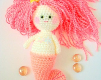 Crochet Pattern, Amigurumi Pattern, Mermaid Girl, PDF Amigurumi, Crochet Tutorial - CROCHET PATTERN (instant download)