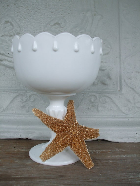 Milk Glass Footed Compote Goblet